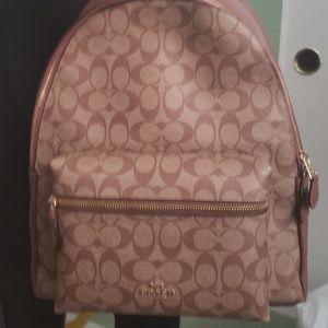 Coach  Signature  Backpack  Khaki-Saddle NWT$428